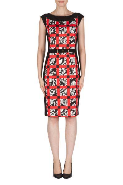 Joseph Ribkoff Black/White/Red Dress Style 181720