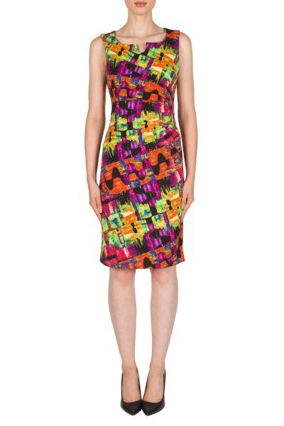 Joseph Ribkoff Black/Multi Dress Style 181740