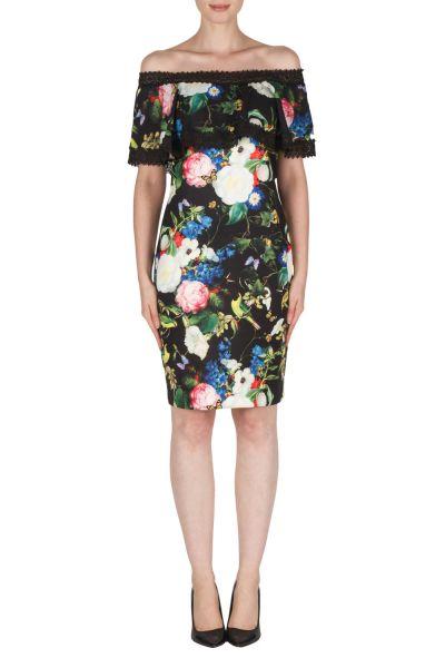 Joseph Ribkoff Black/Multi Dress Style 181747