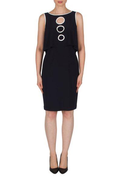 Joseph Ribkoff Midnight Blue/Vanilla Dress Style 182006