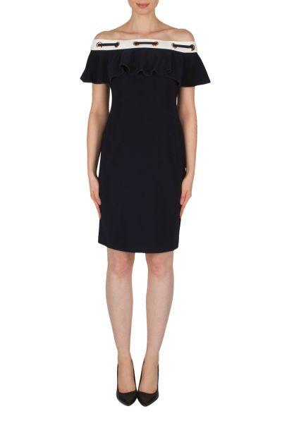 Joseph Ribkoff Midnight Blue/Vanilla Dress Style 182012