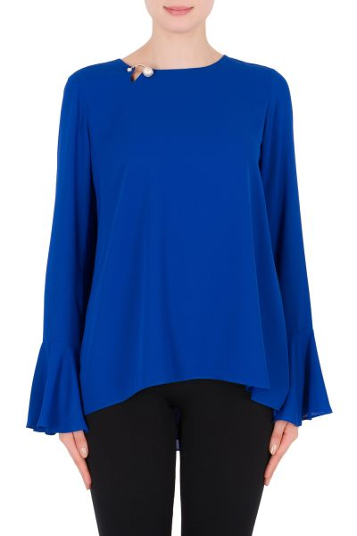 Joseph Ribkoff Azure Blue Top Style 182282