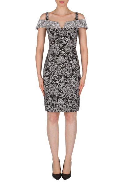 Joseph Ribkoff Black/White Dress Style 182526