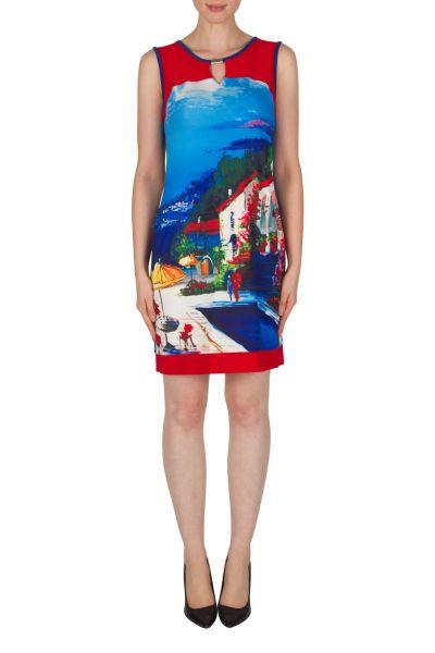 Joseph Ribkoff Blue/Multi Dress Style 182651