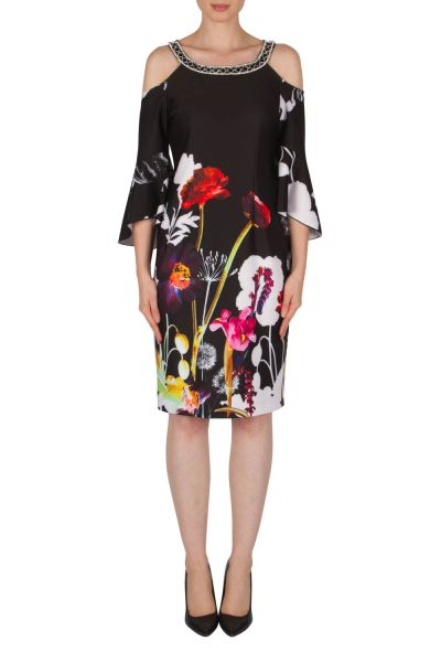 Joseph Ribkoff Black/Multi Dress Style 182704