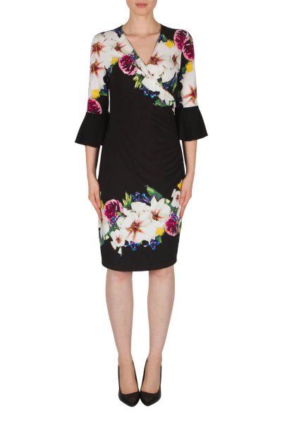 Joseph Ribkoff Black/Multi Dress Style 182710