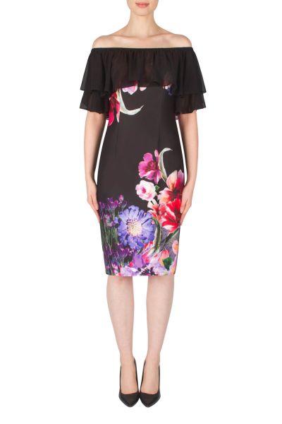 Joseph Ribkoff Black/Lilac Dress Style 182729