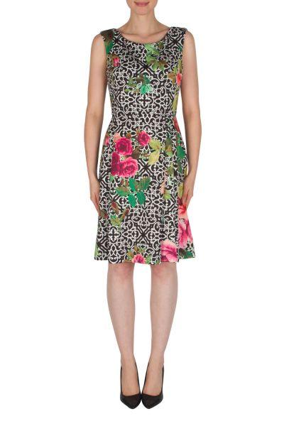 Joseph Ribkoff Black/Multi Dress Style 182753