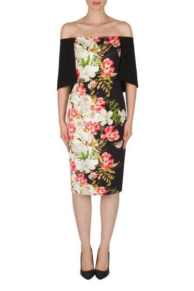 Joseph Ribkoff Black/White/Pink Dress Style 182765