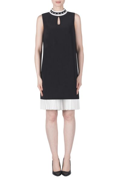 Joseph Ribkoff Black/Vanilla Dress Style 183033