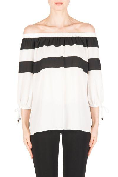 Joseph Ribkoff Off-White/Black Top Style 183281