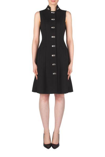 Joseph Ribkoff Black/Light Grey Dress Style 183338