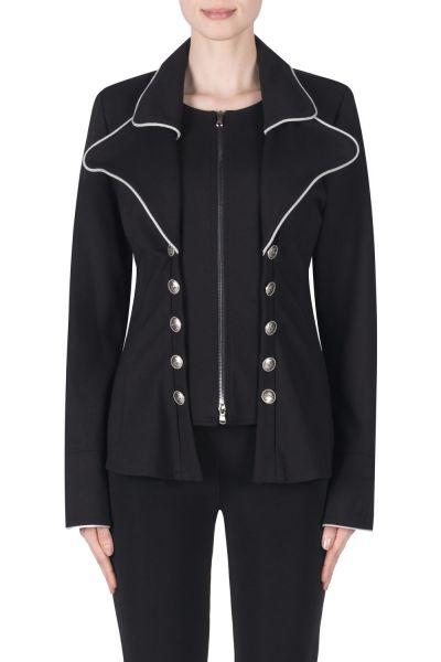 Joseph Ribkoff Black/Light Grey Jacket Style 183355