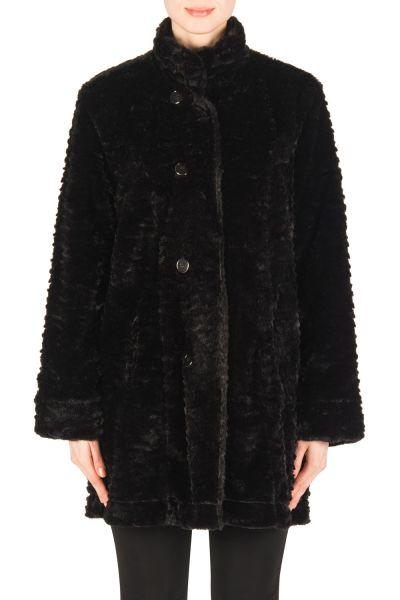 Joseph Ribkoff Black Reversible Coat Style 183363