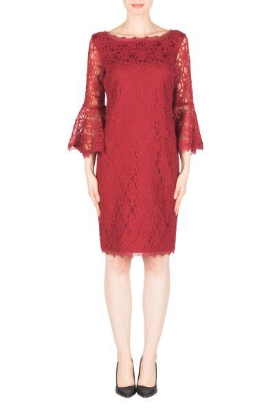 Joseph Ribkoff Burgundy Dress Style 183500