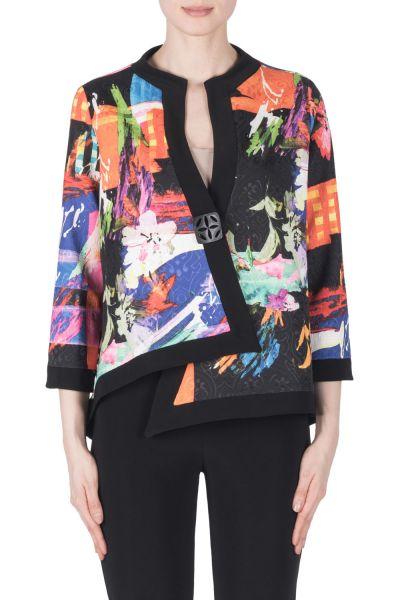 Joseph Ribkoff Black/Multi Jacket Style 183541