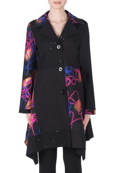 Joseph Ribkoff Black/Multi Coat Style 183547