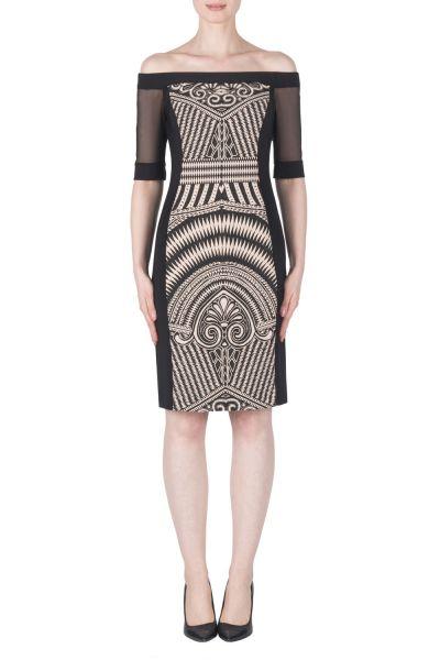 Joseph Ribkoff Black/Beige Dress Style 183557