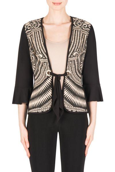 Joseph Ribkoff Black/Beige Jacket Style 183558