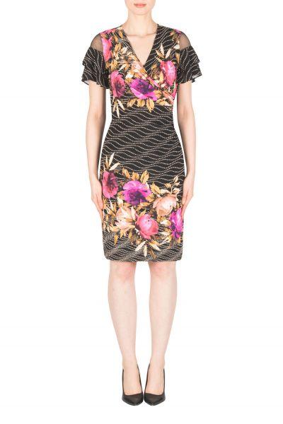 Joseph Ribkoff Black/Multi Dress Style 183614