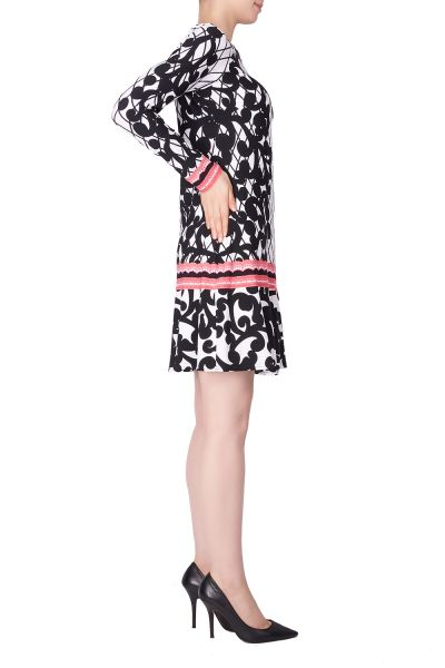 Joseph Ribkoff Black/Multi Dress Style 183633