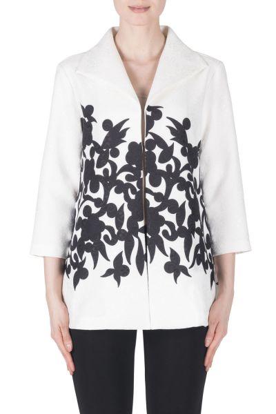 Joseph Ribkoff White/Black Jacket Style 183659