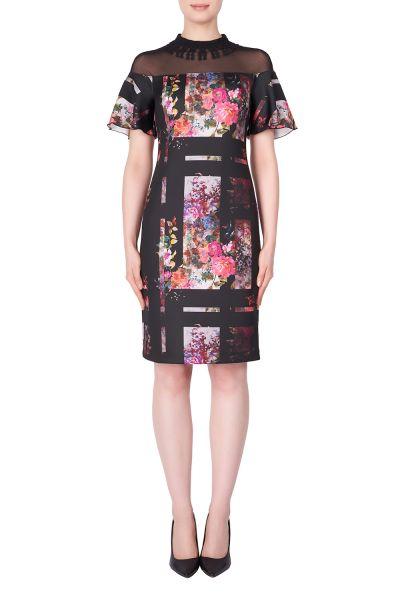 Joseph Ribkoff Black/Multi Dress Style 183734