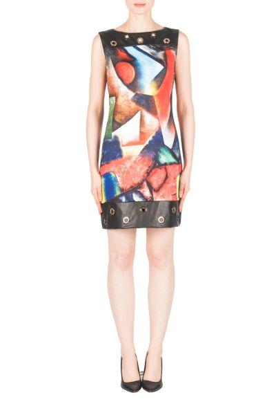 Joseph Ribkoff Black/Multi Dress Style 183739