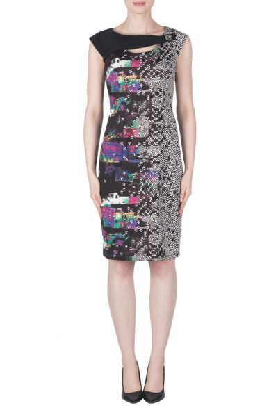Joseph Ribkoff Black/Purple/Multi Dress Style 183743