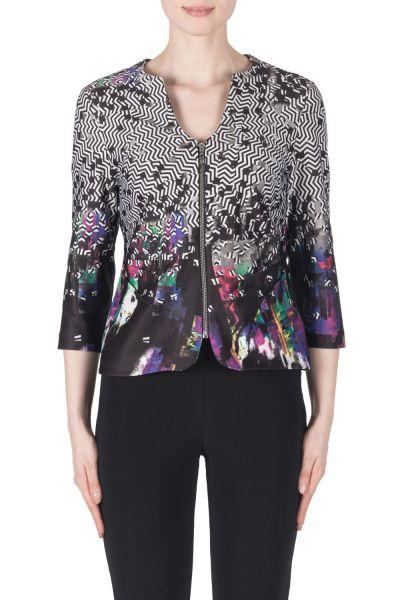Joseph Ribkoff Black/Purple/Multi Jacket Style 183744