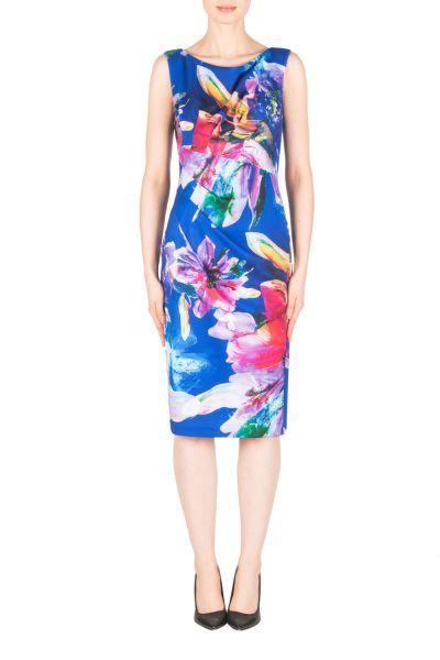 Joseph Ribkoff Blue/Multi Dress Style 183751