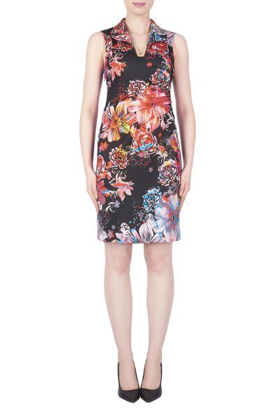 Joseph Ribkoff Black/Multi Dress Style 183759