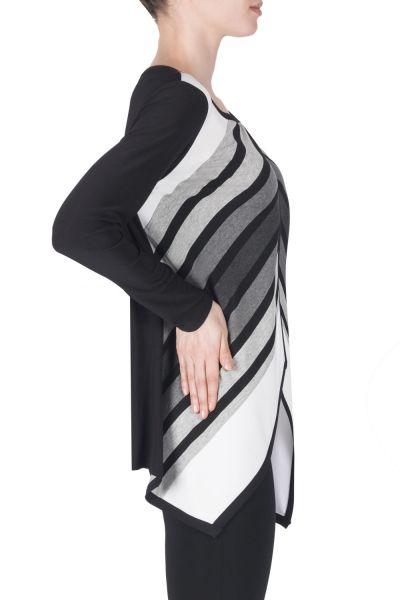 Joseph Ribkoff Black/Grey/Vanilla Cover Up Style 183790