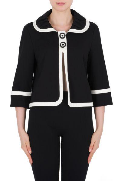 Joseph Ribkoff Black/Vanilla Jacket Style 184361