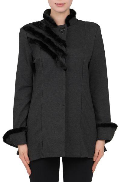 Joseph Ribkoff Grey/Black Coat Style 184362
