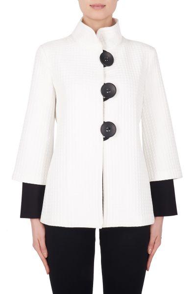 Joseph Ribkoff Ivory/Black Jacket Style 184436