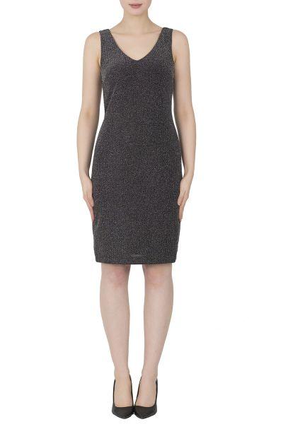 Joseph Ribkoff Silver/Black Dress Style 184547