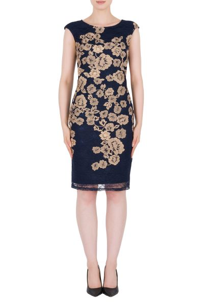 Joseph Ribkoff Navy/Gold Dress Style 184516