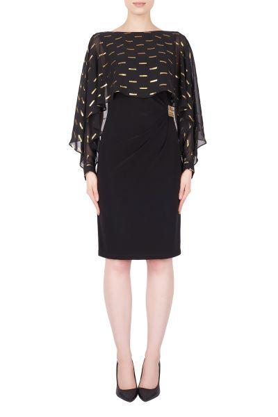 Joseph Ribkoff Black/Gold Dress Style 184605