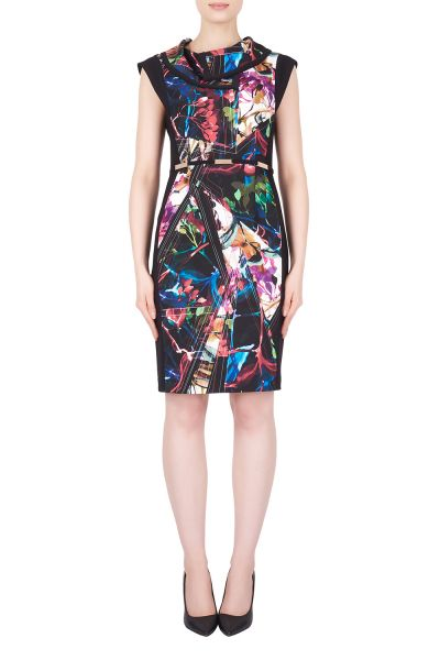Joseph Ribkoff Black/Multi Dress Style 184643