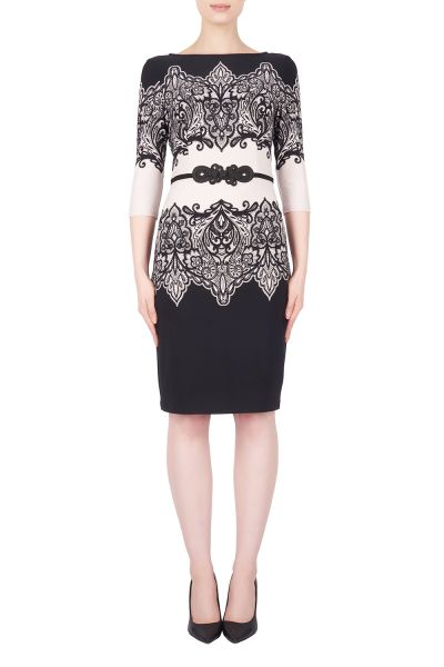 Joseph Ribkoff Black/Taupe Dress Style 184686