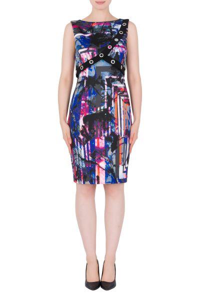 Joseph Ribkoff Black/Multi Dress Style 184712