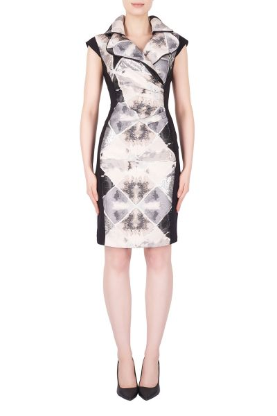 Joseph Ribkoff Black/Pink/Grey Dress Style 184760