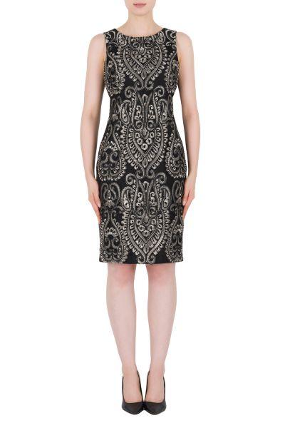 Joseph Ribkoff Black/Silver Dress Style 184820