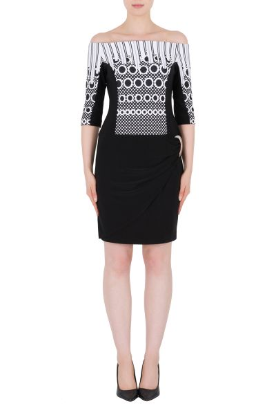 Joseph Ribkoff Black/Off-White Dress Style 184897