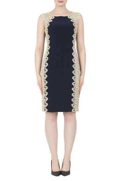 Joseph Ribkoff Midnight Blue/Gold Dress Style 191013