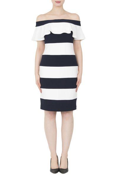 Joseph Ribkoff Midnight Blue/Vanilla Dress Style 191040