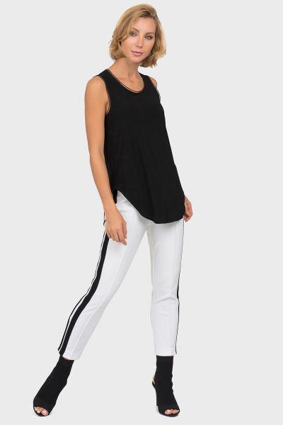 Joseph Ribkoff Vanilla/Black Pants Style 191097