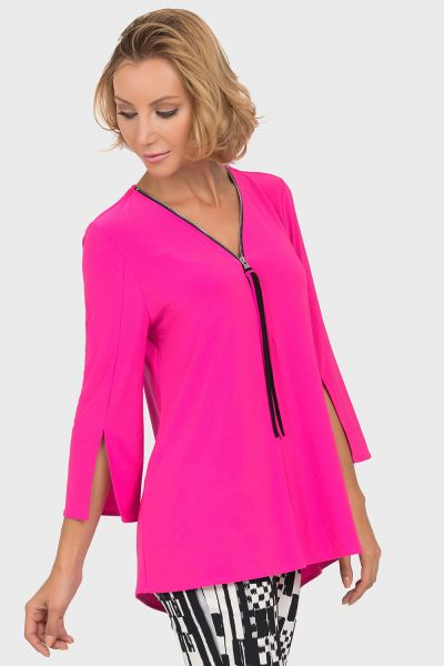 Joseph Ribkoff Neon Pink Top Style 191143