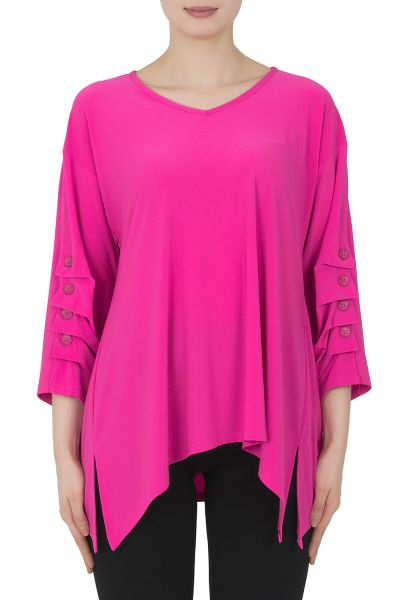 Joseph Ribkoff Neon Pink Top Style 191156